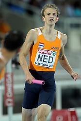01-08-2010 ATLETIEK: EUROPEAN ATHLETICS CHAMPIONSHIPS: BARCELONA<br /> Netherlands 4x400 meter relay MOERMAN Joeri <br /> ©2010-WWW.FOTOHOOGENDOORN.NL