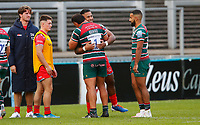 Rugby Union - 2019 / 2020 Gallagher Premiership - Leicester Tigers vs Sale Sharks<br /> <br /> Manu Tuilagi of Sale Sharks with Ellis Genge of Leicester Tigers at Welford Road.<br /> <br /> COLORSPORT/LYNNE CAMERON