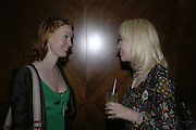 Alicia Witt and Sally Greene, The 25th hour post party at the Plaza on the River, 18 Albert Embankment. Culmination of the 24 Hour Plays Celebrity Gala at the Old Vic.London. 8 October 2006.  -DO NOT ARCHIVE-© Copyright Photograph by Dafydd Jones 66 Stockwell Park Rd. London SW9 0DA Tel 020 7733 0108 www.dafjones.com