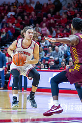 NORMAL, IL - January 19: Matt Chastain rushes the lane during a college basketball game between the ISU Redbirds and the Loyola University Chicago Ramblers on January 19 2020 at Redbird Arena in Normal, IL. (Photo by Alan Look)