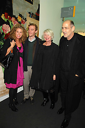 Left to right, PASCALE COHEN, ANDREW JUDD, BETTY JACKSON and her husband DAVID COHEN at the opening of Frieze Art Fair 2007 held in regent's Park, London on 10th October 2007.<br /><br />NON EXCLUSIVE - WORLD RIGHTS