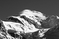 The Summit of Mont Blanc in the Chamonix Valley, France