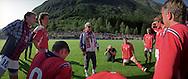 former fotballcouch Egil Drillo Olsen, with team at Skei.6 sept 2008