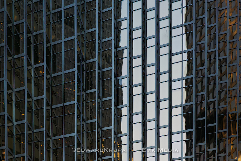 Detail of one of the two towers of the Royal Bank Plaza in Toronto's financial district.