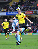 Photo: Richard Lane/Richard Lane Photography. Watford v Derby County. Coca Cola Championship. 12/12/2009. <br /> Stephen Pearson of Derby fouls Tom Cleverley of Watford