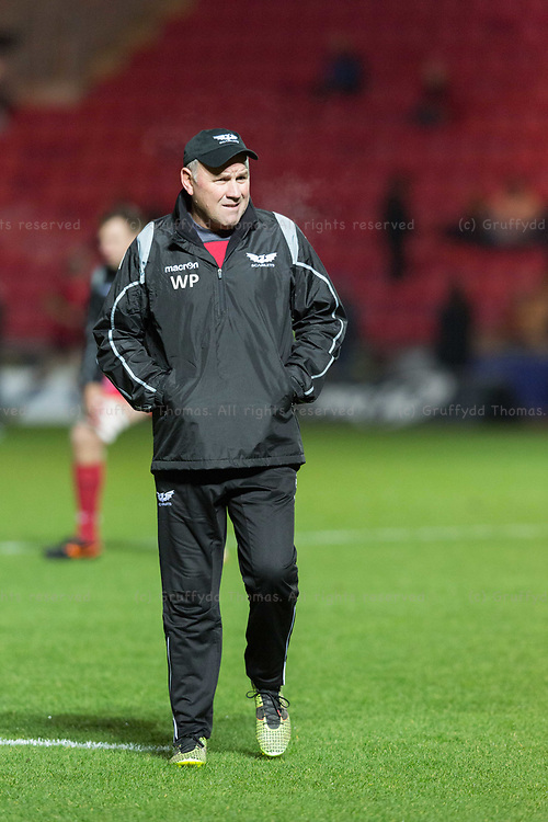 Parc y Scarlets, Llanelli, Wales, UK. Friday 5 January 2018.  Scarlets head coach Wayne Pivac ahead of the Guinness Pro14 match between Scarlets and Newport Gwent Dragons.