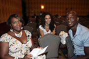 l to r: Bevy Smith, Melanie Sharese and Dennis Williams at The HBO Talk Series with Vivica Fox during the The 2009 American Black Film Festival held at The Ritz-Carlton in Miami Beach on June 27, 2009 ..