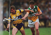 Clare's Jamsie O'Connor and Offaly's Michael Duignan (1995 final).