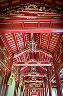 Framework detail in Hue Imperial City, Vietnam, Southeast Asia