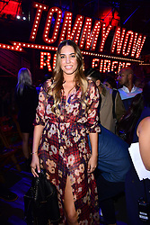 Amber Le Bon during the Tommy Hilfiger Front row during London Fashion Week SS18 held at Roundhouse, Chalk Farm Rd, London. Picture Date: Tuesday 19 September. Photo credit should read: Ian West/PA Wire