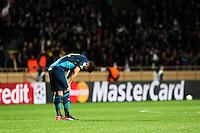 Deception Olivier GIROUD - 17.03.2015 - Monaco / Arsenal - 1/8Finale Retour Champions League<br />Photo : Jean Christophe Magnenet / Icon Sport