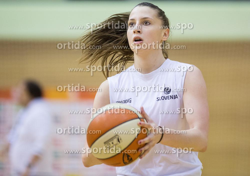 Rebeka Abramovic during practice session of Slovenian Women Basketball Team, on May 14, 2014 in Arena Vitranc, Kranjska Gora, Slovenia. Photo by Vid Ponikvar / Sportida