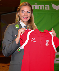 16.07.2016, Hotel Mariott, Wien, AUT, Olympia, Rio 2016, Einkleidung OeOC, im Bild ivona Dadic // during the outfitting of the Austrian National Olympic Committee for Rio 2016 at the Hotel Mariott in Wien, Austria on 2016/07/16. EXPA Pictures © 2016, PhotoCredit: EXPA/ Erich Spiess