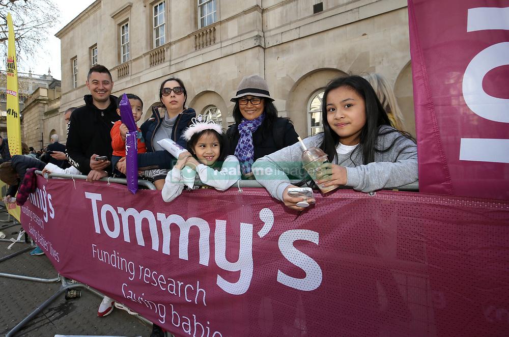 Spectators during the 2019 London Landmarks Half Marathon.