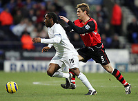 Fotball<br /> Premier League 2004/05<br /> Bolton v Blackburn<br /> 28. desember 2004<br /> Foto: Digitalsport<br /> NORWAY ONLY<br /> BLACKBURN'S GARRY FLITCROFT CHASES DOWN BOLTONS JAY JAY OKOCHA