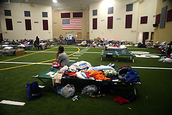 Families take shelter at the FEMA Dome after Hurricane Harvey displaced them, on Wednesday, August 30, 2017, at Tulsa-Midway High School in Corpus Christi, Texas, USA. Harvey struck the Texas, USA Coastal Bend as a Category 4 on August 25. Photo by Gabe Hernandez/Corpus Christi Caller-Times/TNS/ABACAPRESS.COM