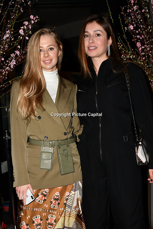Kotelevska Yuliia, Marina Yaroslavska attend Travel bag brand hosts the launch of its exclusive luxury collection of handbags in collaboration with model and designer Anastasiia Masiutkina  D'Ambrosio on 26 March 2019, Caviar House & Prunier 161 Piccadilly, London, UK.