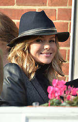 AMANDA HOLDEN and ROB BRYDON at the 2013 Hennessy Gold Cup at Newbury Racecourse, Berkshire on 30th November 2013.
