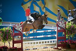 Bost Roger Yves (FRA) - Nikyta D'Elle<br /> CHI Al Shaqab - Doha 2013<br /> © Dirk Caremans