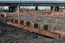 Pearl Harbor Memorial Bridge Foundation and NB West Approach Construction. Part of the I-95 New Haven Corridor  Harbor Crossing Improvement Program. Second Progress Photography Capture, Contract B1, Project 92-618. Site photographed every 4 months as per CT DOT specifications.