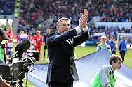 New Reading manager Nigel Adkins applauds the home fans before the match.  Barclays Premier league, Reading v Southampton at the Madejski stadium in Reading on Saturday 6th April 2013. pic by Andrew Orchard, Andrew Orchard sports photography,