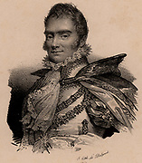 Charles Ferdinand, Duc de Berry (1778-1820); French aristocrat; second son of Charles X of France; assassinated by Bonapartist fanatic. Lithograph c1830.