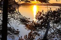 Norway, Stavanger. Sunset over Stokkavannet.