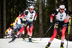 Erlend Bjoentegaard (NOR) during the Mass Start Men 15 km at day 4 of IBU Biathlon World Cup 2019/20 Pokljuka, on January 23, 2020 in Rudno polje, Pokljuka, Pokljuka, Slovenia. Photo by Peter Podobnik / Sportida