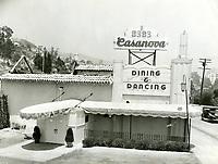 1936 Casanova Restaurant on Sunset Blvd. in West Hollywood