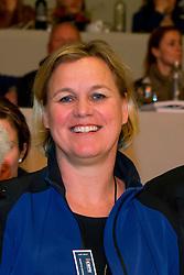 Sanders - Van Ganzewinkel Mariette, (NED)<br /> KWPN Hengstenkeuring 's Hertogenbosch 2014<br /> © Hippo Foto - Dirk Caremans<br /> 07/02/14