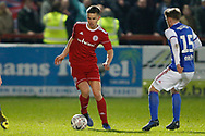 Accrington Stanley defender Callum Johnson (2)  during the The FA Cup 3rd round match between Accrington Stanley and Ipswich Town at the Fraser Eagle Stadium, Accrington, England on 5 January 2019.