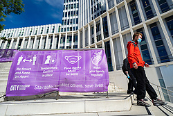 Glasgow, Scotland, UK. 24 September, 2020. Signs on campus of City of Glasgow College in Glasgow city centre warn of required safety precautions against Covid-19 transmission. Many students at Scottish universities have tested positive for Covid-19 and are self isolating.  Iain Masterton/Alamy Live News