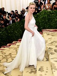 Dakota Fanning attending the Metropolitan Museum of Art Costume Institute Benefit Gala 2018 in New York, USA.