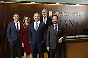 SHOT 1/8/19 12:11:04 PM - Bachus & Schanker LLC lawyers James Olsen, Maaren Johnson, J. Kyle Bachus, Darin Schanker and Andrew Quisenberry in their downtown Denver, Co. offices. The law firm specializes in car accidents, personal injury cases, consumer rights, class action suits and much more. (Photo by Marc Piscotty / © 2018)