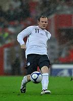 Photo: Tony Oudot/Richard Lane Photography.  England v Czech Republic. International match. 20/08/2008. <br /> Wayne Rooney of England .
