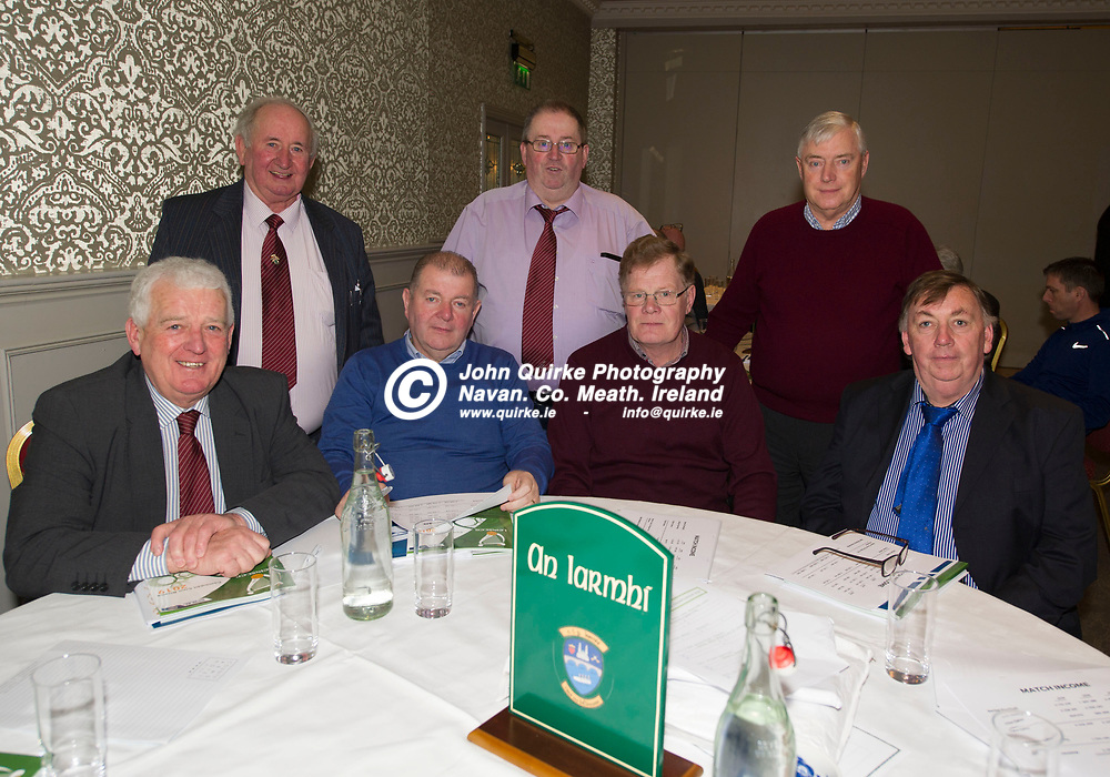 25-01-19. Leinster GAA Annual Convention 2018 at the Knightsbrook Hotel, Trim.<br /> Westmeath Delegates L to R.<br /> Back: Joe Martin, Albert Lowry, Michael McHugh.<br /> Front: Tom Farrell, Willie Murphy, Sean O'Brien and Francis Donoghue.<br /> Photo: John Quirke / www.quirke.ie<br /> ©John Quirke Photography, Unit 17, Blackcastle Shopping Cte. Navan. Co. Meath. 046-9079044 / 087-2579454.