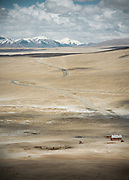 Settlement in a deserted place. Alichur area, Murghab district, Eatsern Pamir region of Tajikistan.