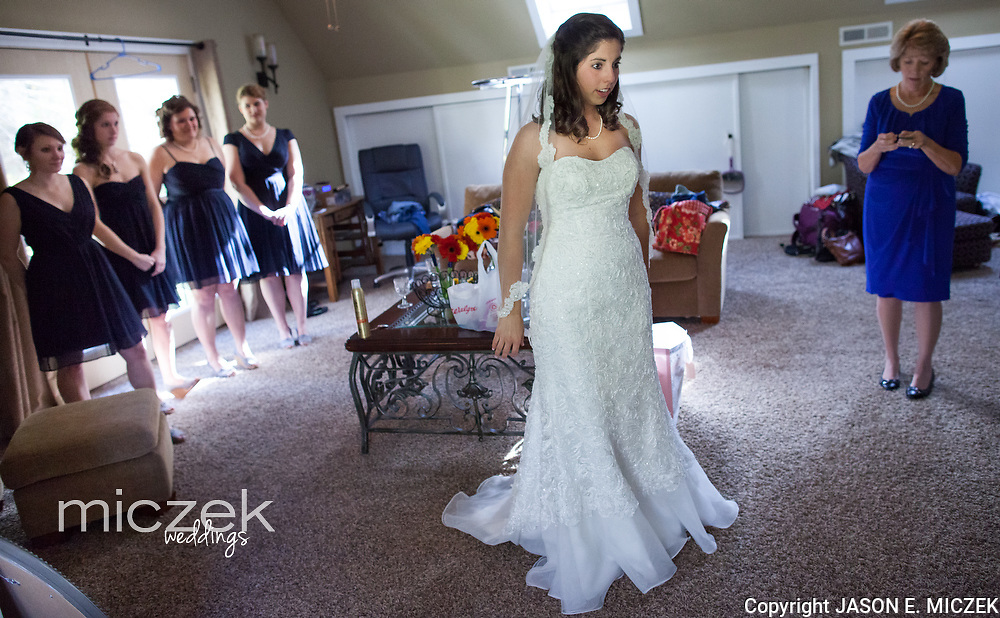 Brittany and Adam Jennings wedding Friday, October 18, 2013 at The Fields of Blackberry Cove in Weaverville, NC. Photo by JASON E. MICZEK - www.miczekweddings.com