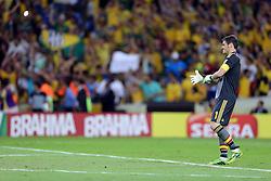O goleiro Iker Casillas na partida entre Brasil e Espanha válida pela final da Copa das Confederações 2013, no estádio Maracana, no Rio de Janeiro. FOTO: Jefferson Bernardes/Preview.com