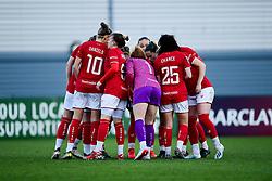 Bristol City Women huddle prior to kick off - Mandatory by-line: Ryan Hiscott/JMP - 08/12/2019 - FOOTBALL - Stoke Gifford Stadium - Bristol, England - Bristol City Women v Birmingham City Women - Barclays FA Women's Super League