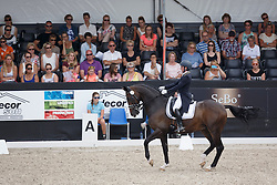 Van Kemenade-Witlox Mirelle, (NED), Decor Vivaldo<br /> Kingsley Donadeo Grand Prix<br /> Dutch Championship Dressage - Ermelo 2015<br /> © Hippo Foto - Dirk Caremans<br /> 17/07/15