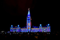 Northern Lights – the sound and light show on Parliament Hill, Ottawa