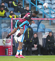 Huddersfield Town's Duane Holmes in action with  Bournemouth's Jefferson Lerma<br /> <br /> Photographer Mick Walker/CameraSport<br /> <br /> The EFL Sky Bet Championship - Huddersfield Town v Bournemouth - Tuesday 13 April 2021 - The John Smith's Stadium - Huddersfield<br /> <br /> World Copyright © 2020 CameraSport. All rights reserved. 43 Linden Ave. Countesthorpe. Leicester. England. LE8 5PG - Tel: +44 (0) 116 277 4147 - admin@camerasport.com - www.camerasport.com