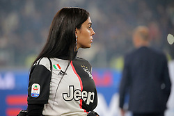 May 19, 2019 - Turin, Turin, Italy - Georgina Rodriguez celebrate after winning the Serie A Championship at the end of the serie A match between Juventus FC and Atalanta BC at Allianz Stadium on May 19, 2019 in Turin, Italy. (Credit Image: © Giuseppe Cottini/NurPhoto via ZUMA Press)