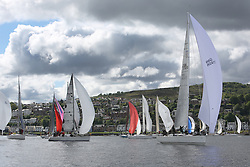 The Silvers Marine Scottish Series 2014, organised by the  Clyde Cruising Club,  celebrates it's 40th anniversary.<br /> Day 1 Class one start.<br /> GBR7745R, Eala of Rhu, J McGarry / C Moore, RNCYC, Swan 45.<br /> <br /> Racing on Loch Fyne from 23rd-26th May 2014<br /> <br /> Credit : Marc Turner / PFM