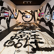 """VENICE, ITALY - JUNE 02:  Interiors of the installation """"Frogtopia-Hongkornucopia"""" at the opening of Hong Kong Pavillion on June 2, 2011 in Venice, Italy. This year's Biennale is the 54th edition and will run from June 4th until 27 November."""