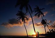 Couple, Sunset, Poipu, Kauai, Maui<br />