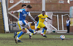 Sammie Szmodics of Peterborough United scores his sides second goal of the game - Mandatory by-line: Joe Dent/JMP - 20/02/2021 - FOOTBALL - Weston Homes Stadium - Peterborough, England - Peterborough United v AFC Wimbledon - Sky Bet League One