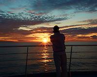 Mediterranean Sunrise on the MV Explorer. Semester at Sea Spring 2013 Enrichment Voyage. Image taken with a Nikon V2 camera and 6.7-13 mm VR lens (ISO 160, 11.9 mm, f/16, 1/40 sec).