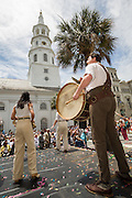 Performers from London's Shakespeare's Globe during the opening of the Spoleto Festival USA, a 17-day performing arts festival May 22, 2015 in Charleston, South Carolina. Mayor Joe Riley opened the festival for the last time as Mayor as he will retire at the end of the year after 39-years.